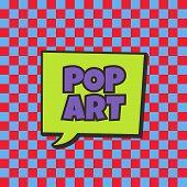 pic of nuke  - pop art retro theme bubble caption vector illustration - JPG