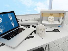 stock photo of 3d  - 3d printing human body - JPG