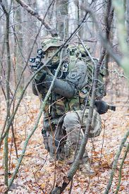 foto of raid  - Jagdkommando soldier Austrian special forces equipped with Steyr assault rifle during the raid  - JPG