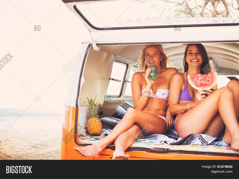 Surfer Girls Beach Lifestyle Image Amp Photo Bigstock