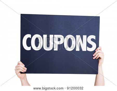 Coupons card isolated on white