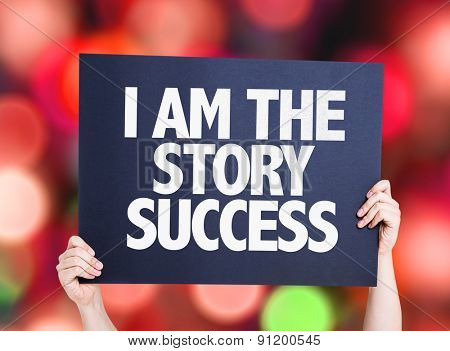 I Am the Story Success card with bokeh background