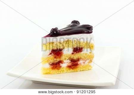 Blueberry Cake Slice.