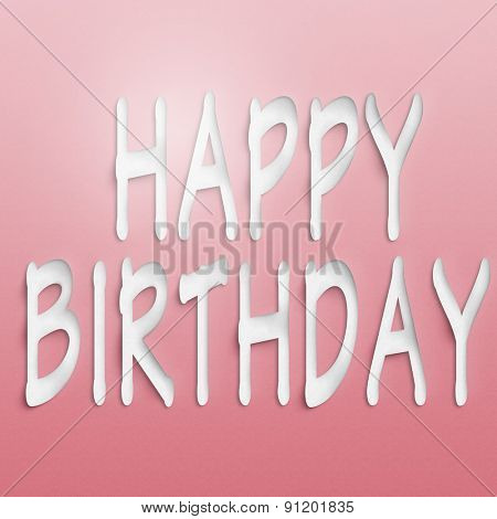 text on the wall or paper, happy birthday