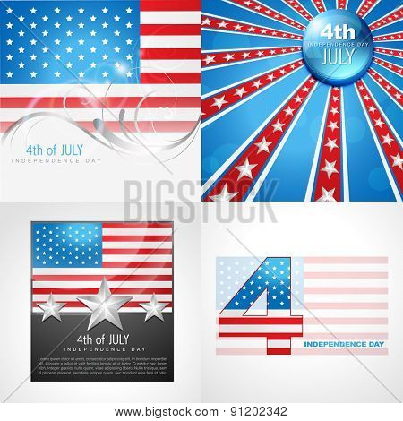 vector collection of american flag design  abstract background