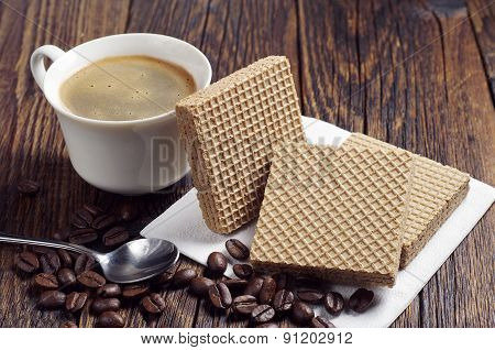 Coffee Cup And Wafers