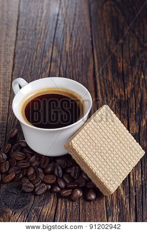 Coffee And Delicious Wafers
