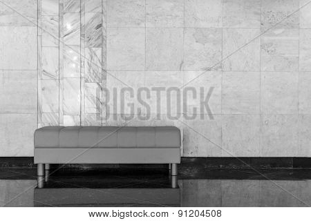 Modern Design Sofa And Marble Wall