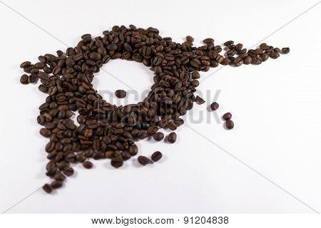 Abstract Roasted Coffee Bean Eye
