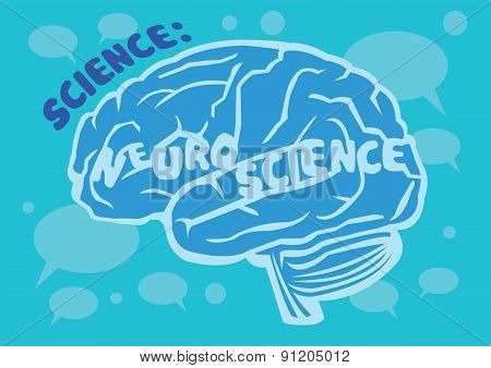Human Brain Vector Illustration For Neuroscience