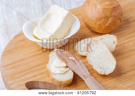 Breakfast Roll With Butter