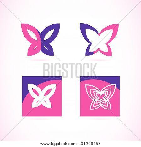 Pink purple butterfly logo