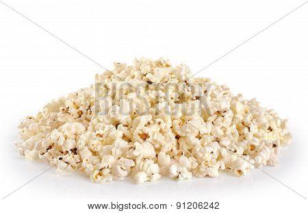 Popcorn Isolated On White Background.