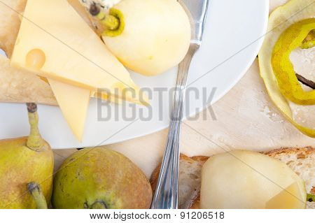 Fresh Pears And Cheese