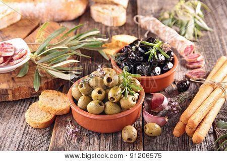 assortment of antipasto