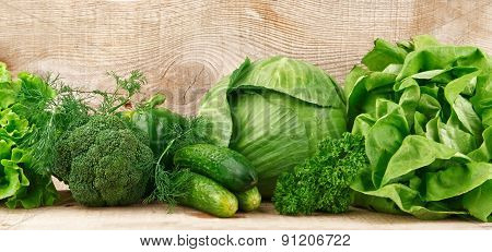 Group Of Green Vegetables