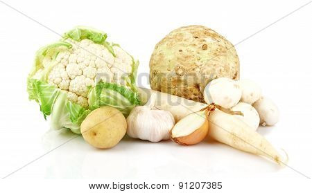 Collection Of White Vegetables