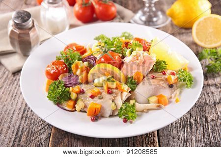 fish and vegetable