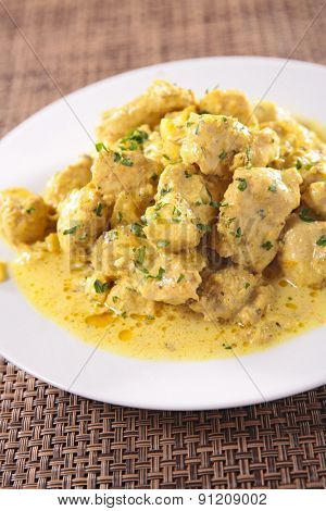chicken and curry sauce