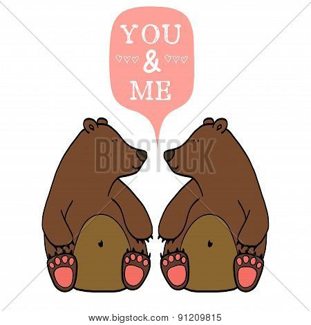 Couple Of Cute Bears.