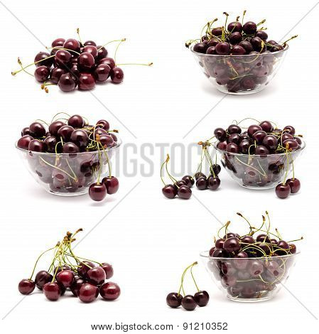 Collection Of Photos Perfect Sweet Cherry Isolated