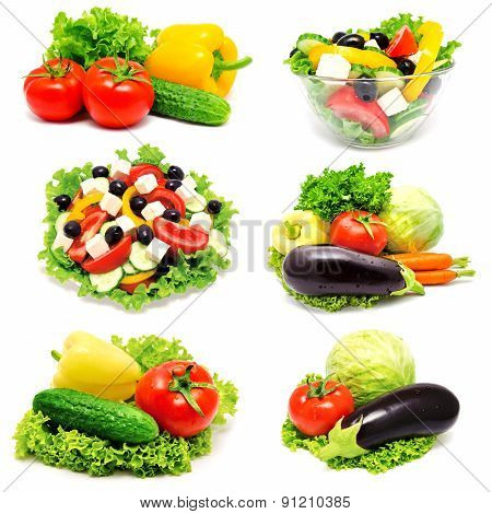 Collection Of Photos Vegetables And Greek Salad