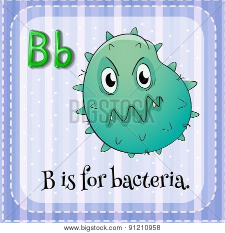 Flashcard letter B is for bacteria