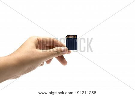 Sd Card In Hand