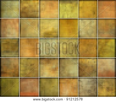 Orange Square Tile Grunge Pattern Backgrounds Collection
