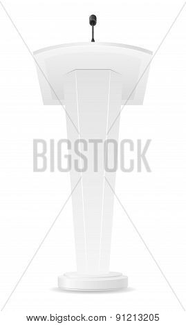 White Tribune Vector Illustration