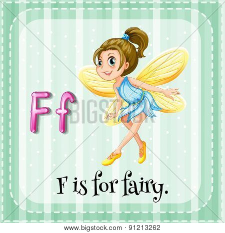 Flashcard letter F is for fairy