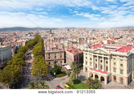 streets of Barcelona Spain