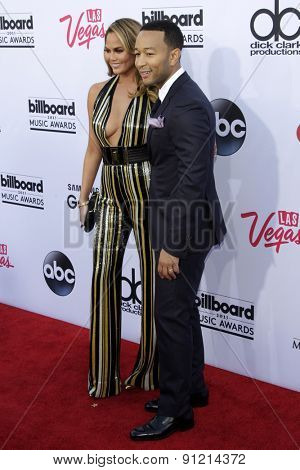 LAS VEGAS - MAY 17:  Chrissy Teigen, John Legend at the Billboard Music Awards 2015 at the MGM Garden Arena on May 17, 2015 in Las Vegas, NV
