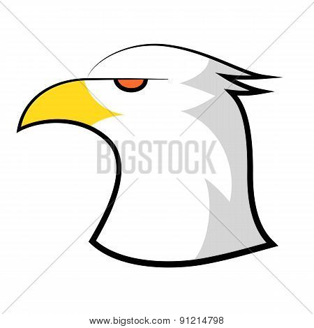 American bald eagle head design