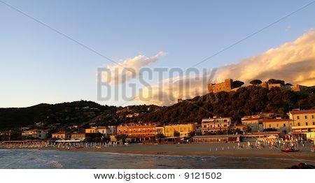 Sea Landscape with Castle