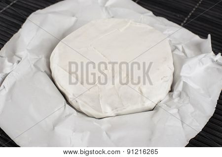 The Cheese With A Blue And A White Mold
