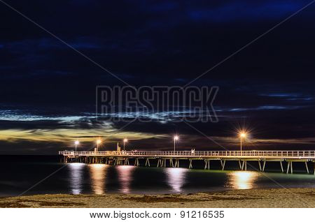 Pier And Night Lights