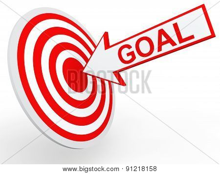 3D goal arrow on target