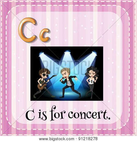 Flashcard alphabet C is for concert