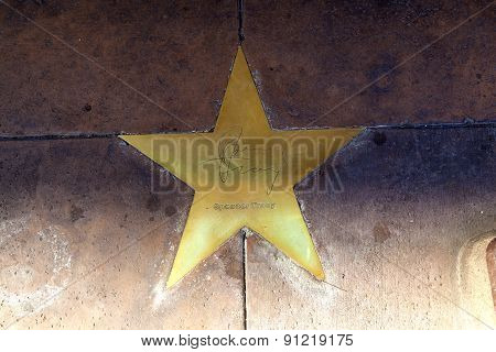 Star Of Spencer Tracy  On Sidewalk In Phoenix, Arizona.