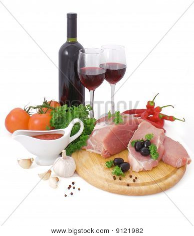Meat And Red Wine