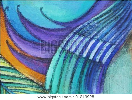 vector abstract graphic colorful painting background
