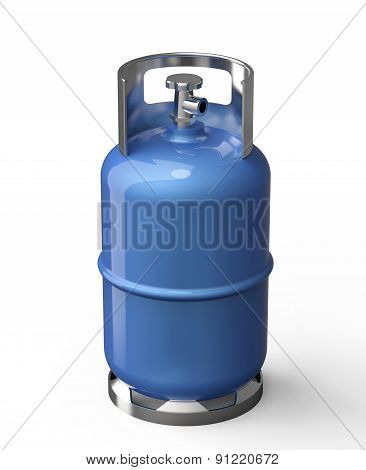 Blue Gas Container Isolated On A White Back Ground