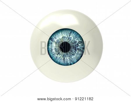 One Eyeball Isolated On White
