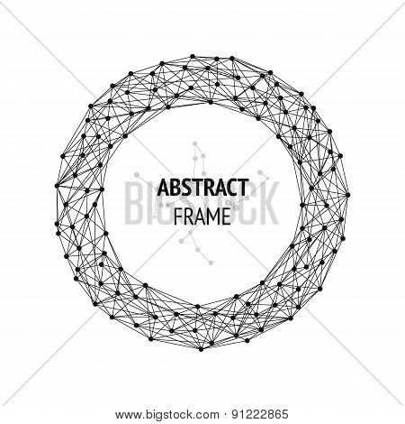 Abstract frame with connected lines