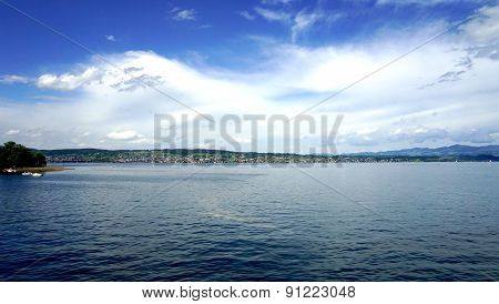 Zurich Lake With Mountains