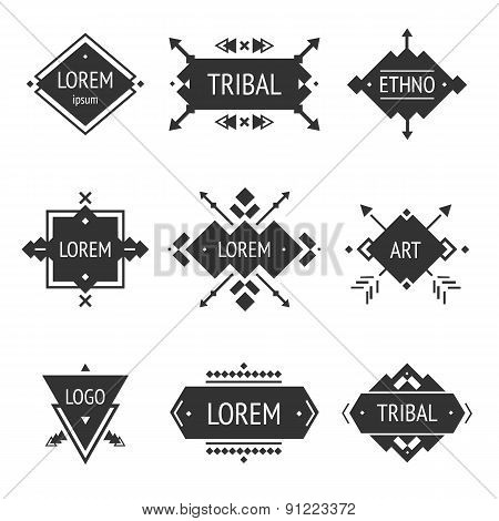 Vector Tribal elements, ethnic collection