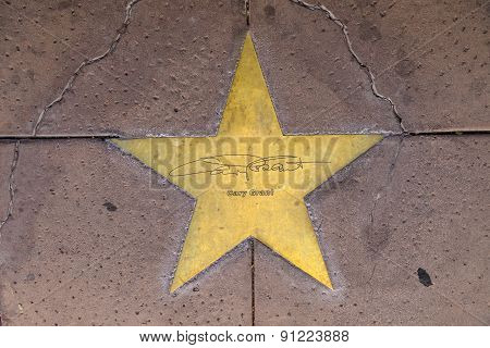 Star Of Garry Grant  On Sidewalk In Phoenix, Arizona.