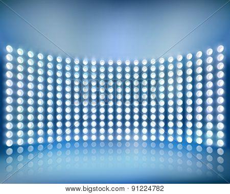 Blue screen panel. Vector illustration.