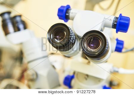 optical medical devices used in ophthalmology for eyesight examination